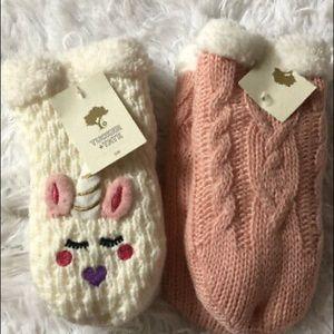 Tucker + Tate Cozy Cable Knit Slipper / Socks